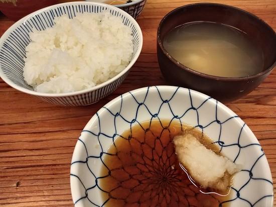蒲田 天ぷら すずき ご飯と味噌汁