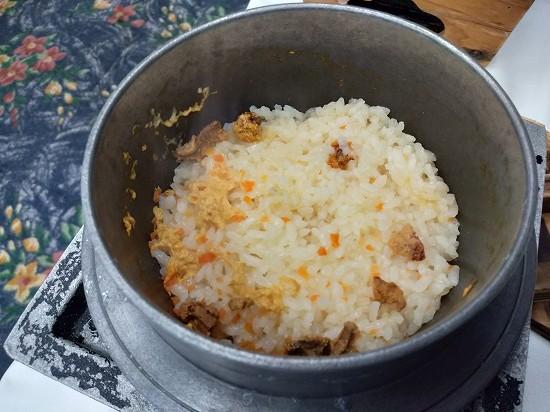 ウニの炊き込みご飯 西長門リゾート 夕食