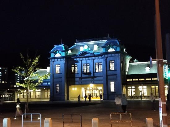 ライトアップ_門司港駅