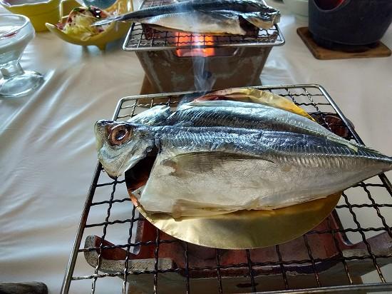 西長門リゾート 朝食 焼魚