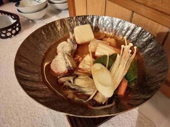 鍋_湯本観光ホテル西京夕食