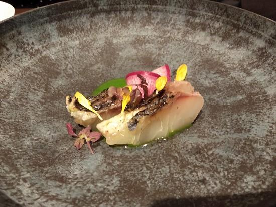 黒鯛の炙り蕪の葉ソース シンシア ランチビュッフェ