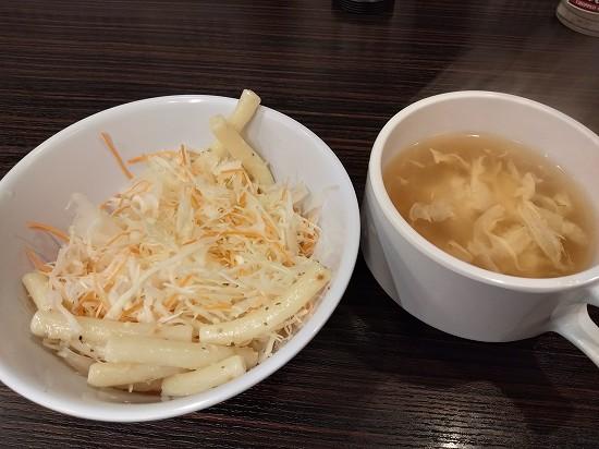 サラダとスープ_やっぱりステーキ